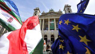 eu - magyarország (eu, zászló, )