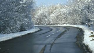 út (havas út, országút, tél, )
