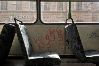 BKV-buszok (bkv, tömegközlekedés, kosz)