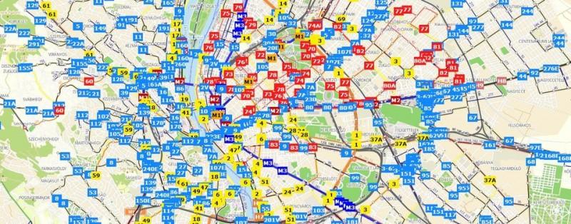 bkk térkép Élőben követhető az összes BKK járat! | 24.hu