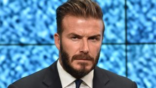 Former England football player David Beckham attends an event to launch the United for Wildlife campaign #WhoseSideAreYouOn which aims to use the power of sport to raise awareness of conservation issues around the world, in central London on June 9, 2014. The Duke of Cambridge, president of United for Wildlife, was joined by David Beckham, who heads a team of sporting stars backing the campaign to engage young people's support on social networks to combat the illegal trade in wildlife products. AFP PHOTO / LEON NEAL