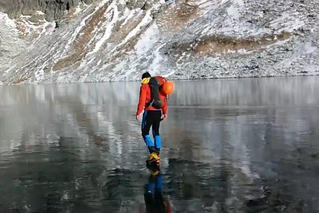 Séta a jégen  (magas-tátra, jég, hegymászó, )