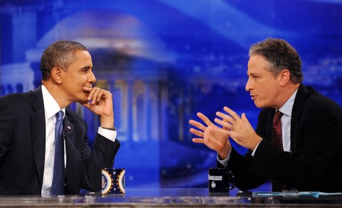 Barack Obama és Jon Stewart (jon stewart, barack obama,)