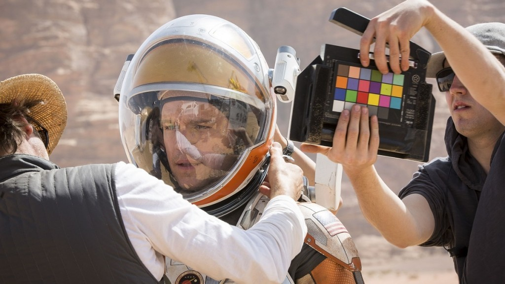Martian, The (2015)   Seul sur Mars   Pers: Matt Damon   Dir: Ridley Scott   Ref: MAR304AE   Photo Credit: [ 20th Century Fox/Genre Films/International Traders/Mid Atlantic Films / The Kobal Collection / Keyte, Giles ]   Editorial use only related to cinema, television and personalities. Not for cover use, advertising or fictional works without specific prior agreement