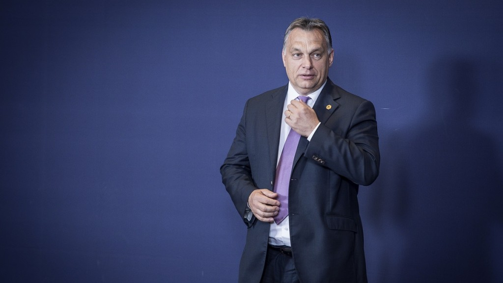 Hungarian Prime Minister Viktor Orban during the family picture at the European heads of state and governments summit at the EU Council headquarters  in Brussels, Belgium on 25.06.2015 The EU summit is expected to be dominated by the migration situation and Greece, plus Britain's renegotiation of EU membership.  by Wiktor Dabkowski/picture alliance