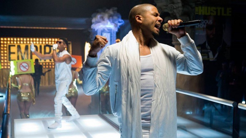 """EMPIRE: Hakeem (Bryshere Gray, L) and Jamal (Jussie Smollett, R) perform in the """"Our Dancing Days"""" episode airing Wednesday, Feb. 18 (9:01-10:00 PM ET/PT) on FOX. ©2014 Fox Broadcasting Co. CR: Chuck Hodes/FOX"""