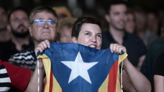 BARCELONA, SPAIN - SEPTEMBER 27: People gather to celebrate the election results after the Catalanist coalition 'Junts pel Si' (Together for the Yes) won the regional elections held, at the El Born Culture Center in Catalonia on September 27, 2015 in Barcelona, Spain. The main Catalanist parties, Catalan Democratic Convergence 'Convergencia Democratica de Catalunya' party (CDC), Republican Leftist of Catalonia 'Esquerra Republicana de Catalunya' party (ERC) and a group of social associations have joined together to form a Catalan pro-independence coalition 'Junts pel Si' (Together for the Yes). Burak Akbulut / Anadolu Agency