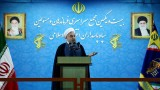 TEHRAN, IRAN - SEPTEMBER 15:  Iranian President Hassan Rouhani delivers a speech during the 21st Nationwide Assembly of the Islamic Revolution Guards Corps (IRGC) Commanders in Tehran, Iran on September 15, 2015. Pool/Iranian Presidency Press Office / Anadolu Agency