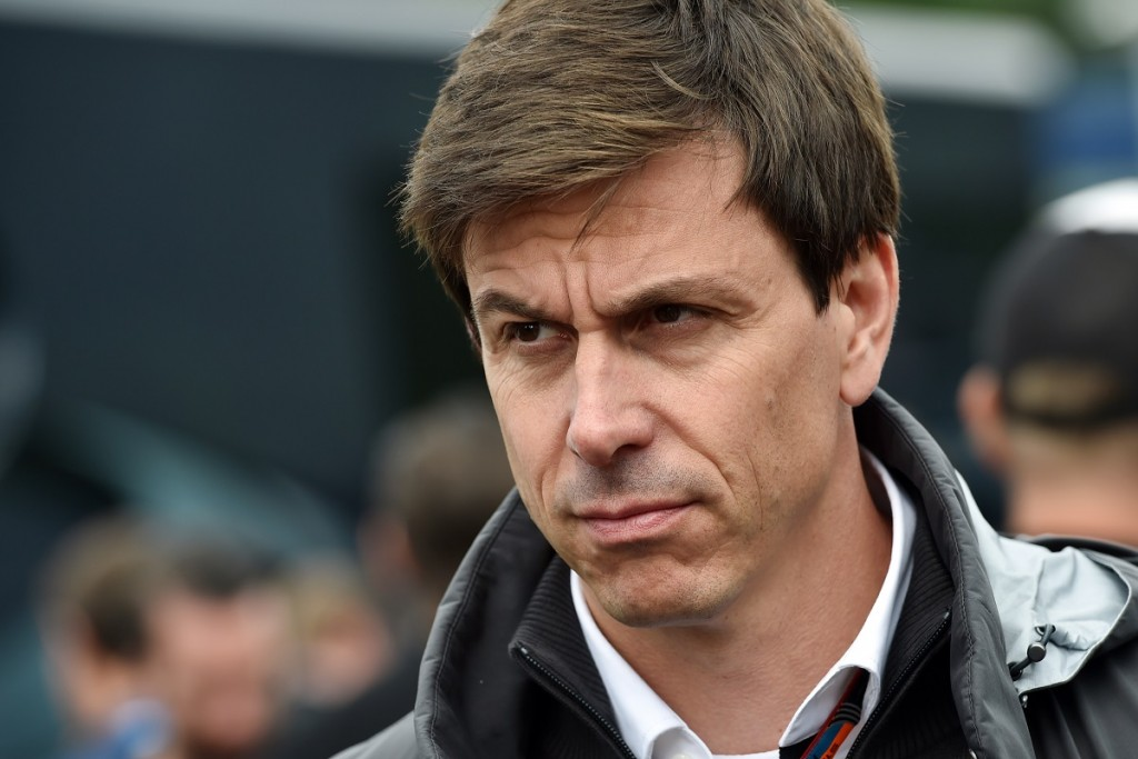 Toto Wolff, head of Mercedes Benz Motor-Sport gives an interview after the qualifying race at the Red Bull Ring in Spielberg on June 20, 2015, ahead of the Austrian Formula One Grand Prix. Reigning world champion Lewis Hamilton took pole position for Sunday's Austrian Grand Prix, ahead of Mercedes teammate Nico Rosberg and Ferrari's German driver Sebastian Vettel. AFP PHOTO / ANDREJ ISAKOVIC