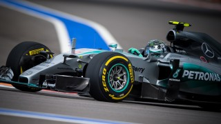 Mercedes AMG Petronas F1 Team's German driver Nico Rosberg drives his car during the third practice session of the Russian Formula One Grand Prix at the Sochi Autodrom circuit on October 10, 2015. AFP PHOTO / ANDREJ ISAKOVIC