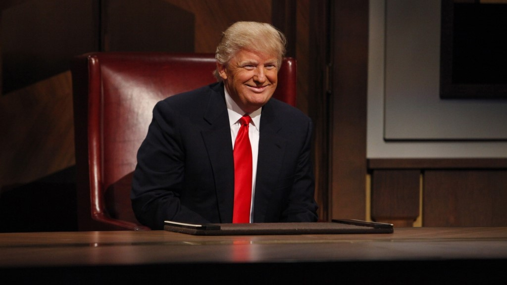 Celebrity Apprentice, The (US TV Series) (2005-)   Pers: Donald Trump   Ref: TVC304BB   Photo Credit: [ NBC-TV / The Kobal Collection ]   Editorial use only related to cinema, television and personalities. Not for cover use, advertising or fictional works without specific prior agreement