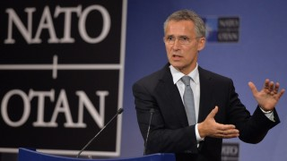 BRUSSELS, BELGIUM - OCTOBER 8: NATO Secretary-General Jens Stoltenberg gives a press conference following a Defence minister meeting at the NATO Headquarters in Brussels on October 8, 2015. Dursun Aydemir / Anadolu Agency