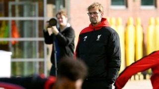 (THE SUN OUT, THE SUN ON SUNDAY OUT)  during a training session at Melwood Training Ground on October 30, 2015 in Liverpool, England.