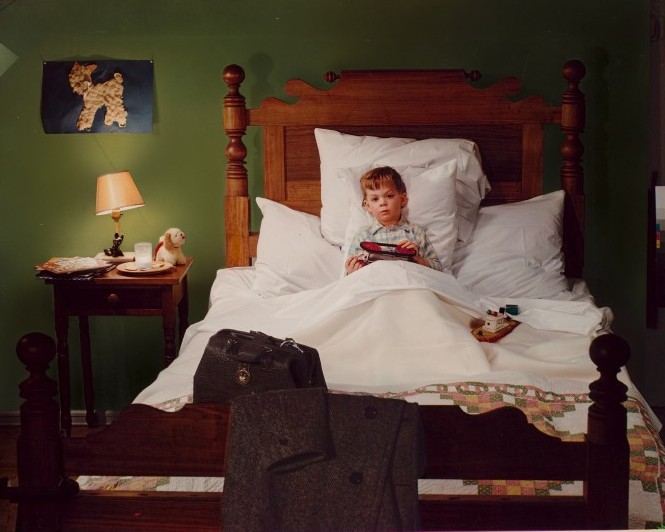 Insurance Ad, Boy in Bed