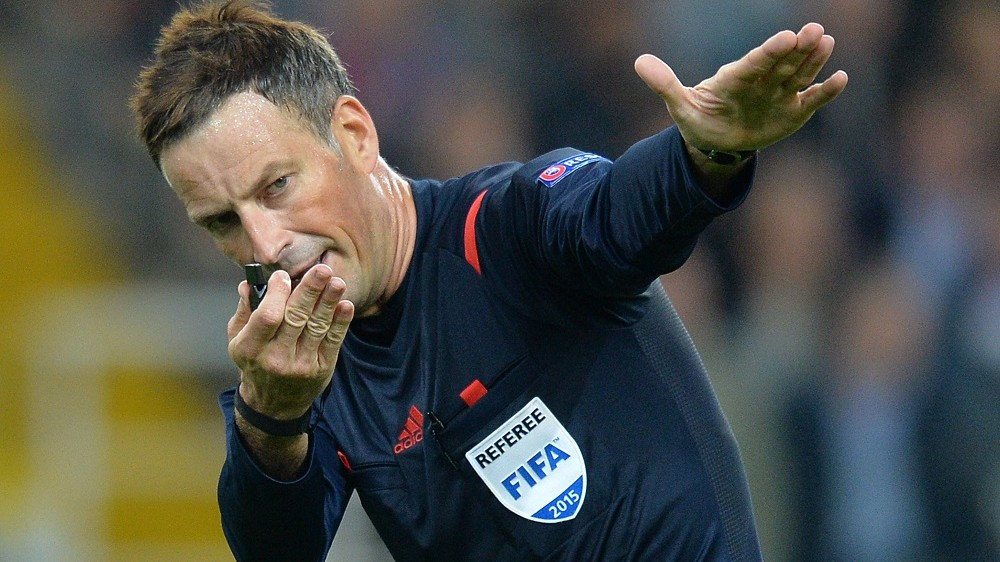 2694044 09/05/2015 Chief referee Mark Clattenburg during the UEFA Euro 2016 qualifying competition group round match between the Russian and Swedish national teams. Vladimir Pesnya/RIA Novosti