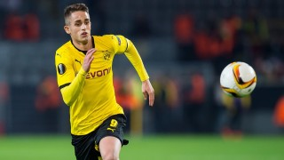 Dortmund's Adnan Januzaj in action during the Europa League group C soccer match between Borussia Dortmund and FK Qabala at the Signal Iduna Park in Dortmund, Germany, 5 November 2015. Photo: Guido Kirchner/dpa