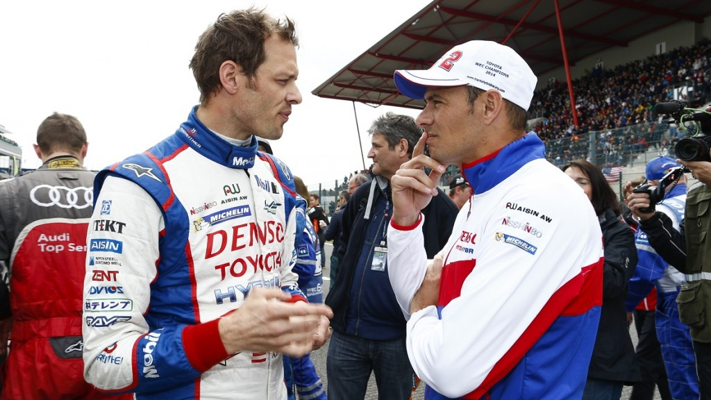 02 WURZ Alexander (AUT) SARRAZIN Stephane (FRA) TOYOTA TS 040 hybrid team Toyota racing ambiance starting grid during the 2015 FIA WEC World Endurance Championship, 6 Hours of Spa from May 1st to 3rd 2015, at Spa Francorchamps, Belgium. Photo Florent Gooden / DPPI
