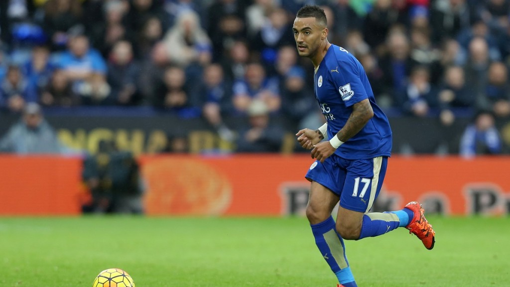 Leicester City's Danny Simpson during the English championship Premier League football match between Leicester City and Crystal Palace on October 24th 2015 played at The King Power Stadium in Leicester, England. Photo Matt Bunn / Backpage Images / DPPI