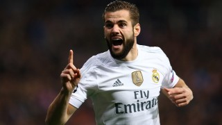 Nacho Fernandez of Real Madrid celebrates after scoring his side's opening goal during the UEFA Champions League Group A football match between Real Madrid and Paris Saint Germain on November 3, 2015 at Santiago Bernabeu stadium in Madrid, Spain. Photo Manuel Blondeau/AOP PRESS/DPPI