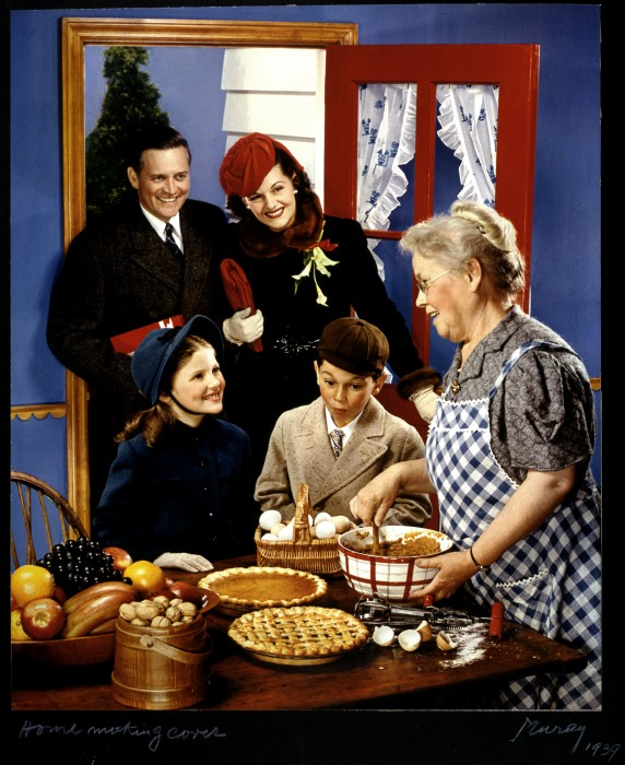 McCall's Magazine Cover, family arriving in kitchen for the holidays