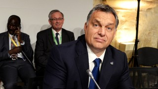 Hungary's Prime minister Viktor Orban waits for the start of the second working session of the European Union - Africa Summit on Migration at the Mediterranean Conference Center, on November 12, 2015 in La Valletta. EU leaders attending a summit with their African counterparts today approved a 1.8-billion-euro trust fund for Africa aimed at tackling the root causes of mass migration to Europe. AFP PHOTO / FILIPPO MONTEFORTE