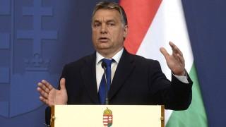 Budapest, 2015. november 20.Orbán Viktor miniszterelnök a Nikola Gruevszki macedón kormányfővel tartott sajtótájékoztatón Budapesten, a Parlamentben 2015. november 20-án.MTI Fotó: Soós Lajos