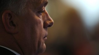 Madrid, 2015. október 22.Orbán Viktor miniszterelnök egy felszólalót hallgat az Európai Néppárt (EPP) madridi tisztújító kongresszusának második napján, 2015. október 22-én. (MTI/AP/Francisco Seco)
