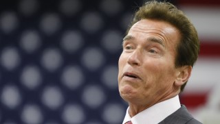 Calif. Gov. Arnold Schwarzenegger  during a tour of the green technology company Serious Materials in Sunnyvale, Calif., Wednesday, April 21, 2010. Serious Materials specializes in better insulation in homes and offices with specialized windows and drywall material using green technology.  (AP Photo/Paul Sakuma)