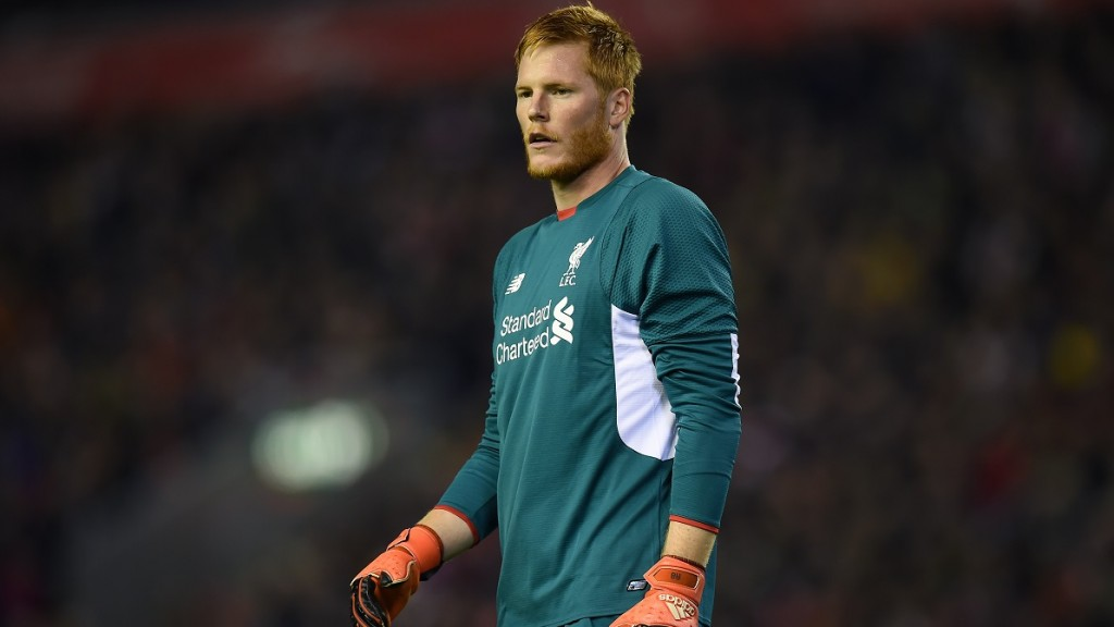 Liverpool's Hungarian goalkeeper Adam Bogdan watches his teammates during the English League Cup fourth round football match between Liverpool and Bournemouth at Anfield stadium in Liverpool, north west England on October 28, 2015. AFP PHOTO / PAUL ELLIS  RESTRICTED TO EDITORIAL USE. NO USE WITH UNAUTHORIZED AUDIO, VIDEO, DATA, FIXTURE LISTS, CLUB/LEAGUE LOGOS OR 'LIVE' SERVICES. ONLINE IN-MATCH USE LIMITED TO 75 IMAGES, NO VIDEO EMULATION. NO USE IN BETTING, GAMES OR SINGLE CLUB/LEAGUE/PLAYER PUBLICATIONS. / AFP / PAUL ELLIS