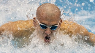Hungary's Laszlo Cseh competes in the finals of the men's 100m butterfly swimming event at the 18th European Short Course Swimming Championship in the Israeli Coastal city of Netanya on December 3, 2015. AFP PHOTO / JACK GUEZ / AFP / JACK GUEZ