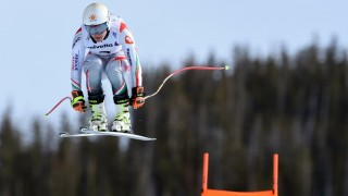 Edit Miklos of Hungary races down the course during the 2015 World Alpine Ski Championships women's downhill training February 5, 2015 in Beaver Creek, Colorado. AFP PHOTO/MARK RALSTON / AFP / MARK RALSTON