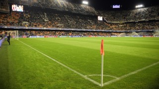 20151020 - VALENCIA, SPAIN: Illustration picture shows the Mestalla Stadium before the start of a soccer game between Spanish club Valencia CF and Belgian team KAA Gent in Valencia, Spain, Tuesday 20 October 2015, game three in group H of the group stage of the UEFA Champions League tournament. BELGA PHOTO YORICK JANSENS