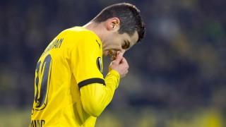 Dortmund's Henrikh Mkhitaryan reacts during the Europa League group C soccer match Borussia Dortmund vs PAOK Saloniki in Dortmund, Germany, 10 December 2015. Photo:  Bernd Thissen/dpa