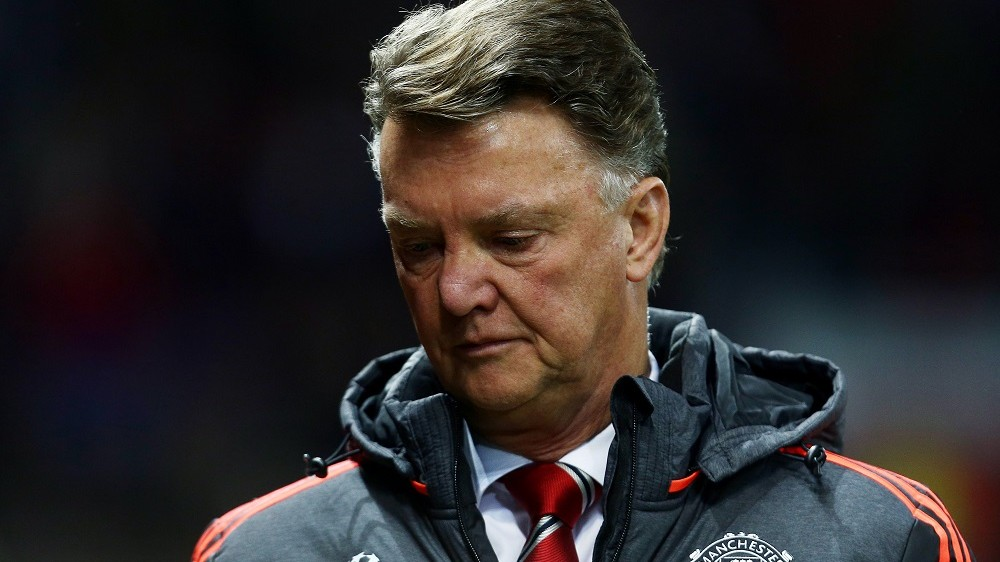 Manchester United manager Louis van Gaal during the UEFA Champions League Group B football match between Manchester United and PSV Eindhoven on November 25th 2015 played at Old Trafford in Manchester, England. Photo Matt West / Backpage Images / DPPI