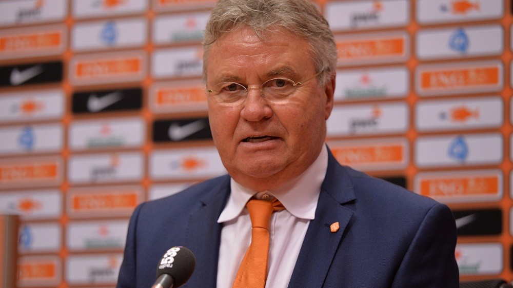 AMSTERDAM, NETHERLANDS - MARCH 27:The Netherlands' head coach Guus Hiddink speaks after the Euro 2016 qualifying round football match Netherlands and Turkey at the Arena Stadium, on March 27, 2015 in Amsterdam. Dursun Aydemir / Anadolu Agency