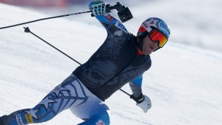during downhill training for the Audi FIS Ski World Cup on the Birds of Prey on December 2, 2015 in Beaver Creek, Colorado.