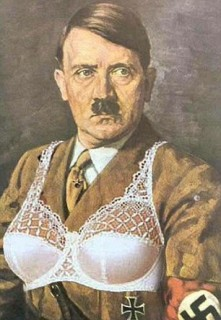 """STIAN_HITLER KNICKERS_IMAGE005  A PLUS-SIZE clothing firm has apologised after accidentally putting a photo of Hitler in its lingerie section this afternoon (Mon). Bosses at Simply Be, an online store for size 12-32 women, were alerted to the bungle by shoppers today (Mon) after an image of the Nazi leaders's book Mein Kampf appeared on the site. The image of the fascist leader's autobiography - translated as My Struggle - appears above an ad for a 'naturally close full cup wired black bra' for £5. Among the other images on display on the same web page include three women modelling a range of lingerie, including two Ann Summers bra and knickers combinations. Writing on Twitter this afternoon, Sylvie Metcalfe wrote: """"@SimplyBeUK I don't think that's quite the right picture for the full cup wired black bra.  TWITTER IMAGE BY SYLVIE METCALFE POKING FUN AT SIMPLY BE'S ERROR  STIAN ALEXANDER 07528 679198"""