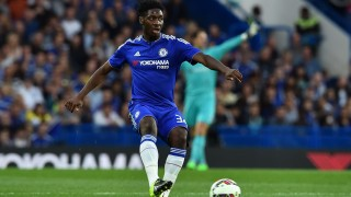 """Chelsea's English defender Ola Aina plays the ball during the pre-season friendly International Champions Cup football match between Chelsea and Fiorentina at Stamford Bridge in London on August 5, 2015.  AFP PHOTO / BEN STANSALL  RESTRICTED TO EDITORIAL USE. NO USE WITH UNAUTHORIZED AUDIO, VIDEO, DATA, FIXTURE LISTS, CLUB/LEAGUE LOGOS OR """"LIVE"""" SERVICES. ONLINE IN-MATCH USE LIMITED TO 45 IMAGES, NO VIDEO EMULATION. NO USE IN BETTING, GAMES OR SINGLE CLUB/LEAGUE/PLAYER PUBLICATIONS. / AFP / BEN STANSALL"""
