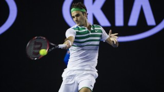 Roger Federer of Switzerland in action during the men's single match on day five of the 2016 Australian Open Tennis Tournament in Melbourne, Australia, on January 22, 2016 - Photo Mike Frey / BPI / DPPI