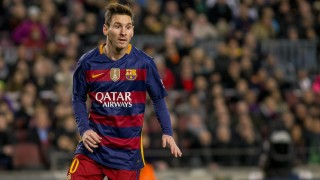 BARCELONA, SPAIN - JANUARY 17: Barcelona's Leo Messi is seen during the Spanish football league match between FC Barcelona and Athletic Club Bilbao at the Camp Nou Stadium in Barcelona, Spain, on January 17, 2016. Albert Llop / Anadolu Agency