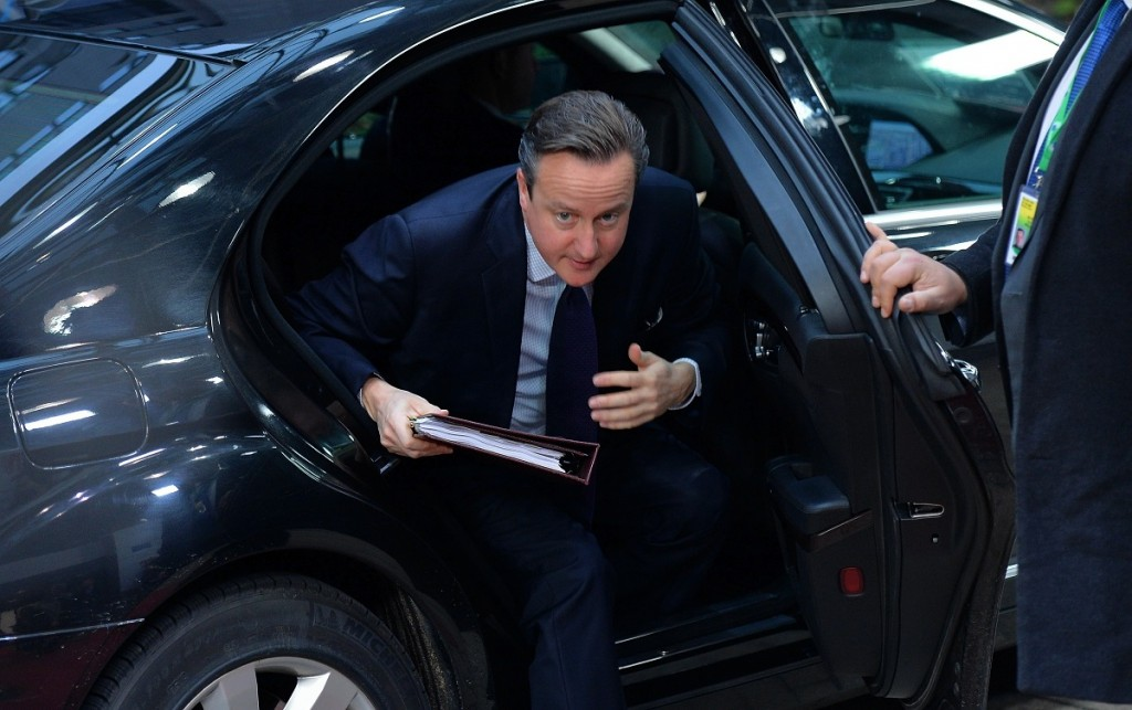 BRUSSELS, BELGIUM - DECEMBER 18: British Prime Minister David Cameron arrives for an EU leaders summit in Brussels, Belgium on December 18, 2015. European Union leaders are reconvening in Brussels for the final day of their year-end summit with a wide-ranging agenda including how to build greater economic unity among their 28 countries and stepping up the fight against terrorism. Dursun Aydemir / Anadolu Agency