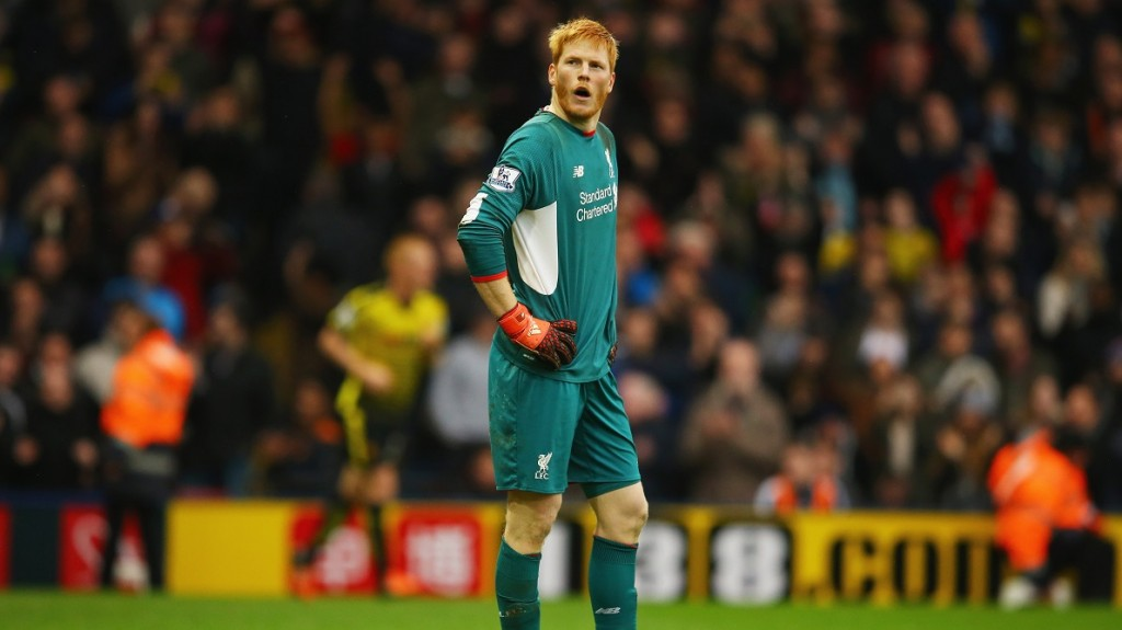during the Barclays Premier League match between Watford and Liverpool at Vicarage Road on December 20, 2015 in Watford, England.