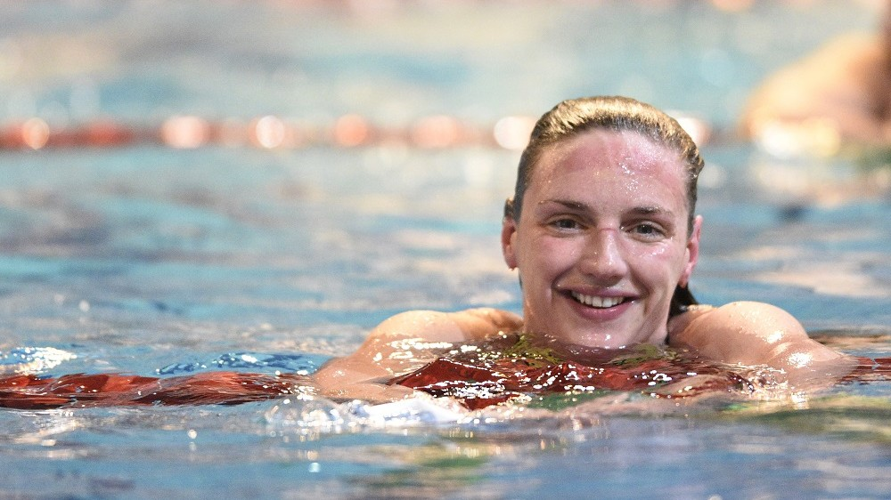 Katinka Hosszu (HUN) competes on Women's 800m Freestyle during the Meeting international, FFN Golden Tour, Camille Muffat, 50m at Coliseum swimming-pool in Amiens, France, on February 5 to 7, 2016 - Photo Stephane Kempinaire / KMSP / DPPI