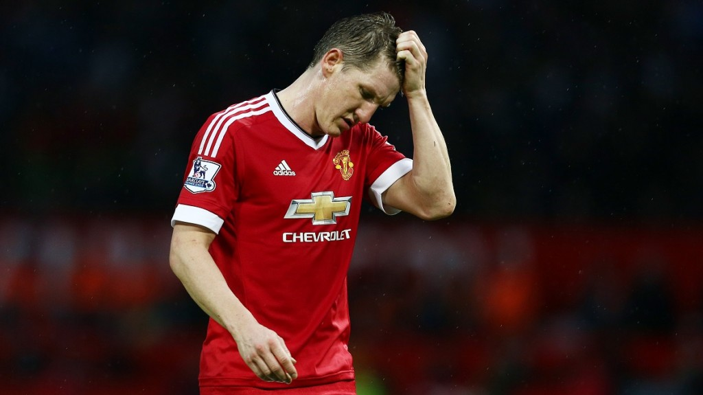Bastian Schweinsteiger of Manchester United looks dejected during the Barclays Premier League match between Manchester United and Swansea City played at Old Trafford, Manchester on January 2nd 2016 - Photo Matt West / BPI / DPPI