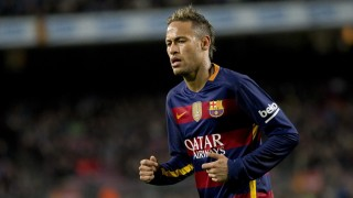 BARCELONA, SPAIN - FEBRUARY 3 :  Barcelona's Neymar Jr in action during the Spanish Copa del Rey (King's Cup) semifinals first leg football match between FC Barcelona and Valencia Club de Futbol at the Camp Nou Stadium in Barcelona, Spain on February 3, 2016. Albert Llop / Anadolu Agency