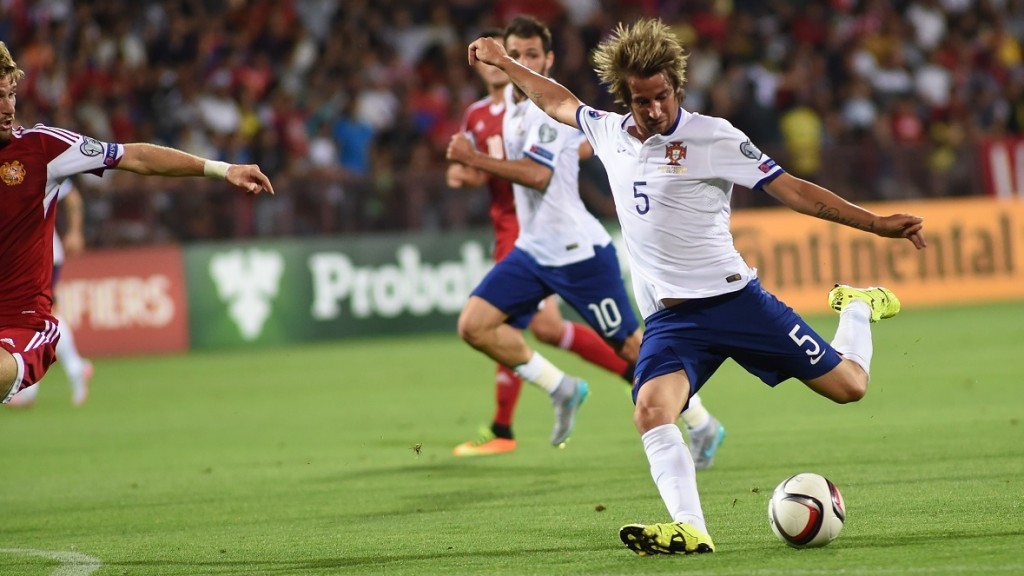 ARMENIA, YEREVAN - JUNE 13 :  Fabio Coentrao of Portugal in action during the UEFA Euro 2016 qualifying match between Armenia and Portugal at Vazgen Sargsyan Republican Stadium in Armenia, Yerevan on June 13, 2015. Hayk Baghdasaryan / Anadolu Agency