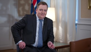 Sigmundur Gunnlaugsson, Iceland's prime minister, poses for a photograph following a Bloomberg Television interview at his office in Reykjavik, Iceland, on Thursday, Jan. 14, 2016. After releasing $17 billion in cash for creditors in its failed banks, the government is preparing to free a further 290 billion kronur ($2.2 billion) trapped for bond investors in March. Photographer: Arnaldur Halldorsson/Bloomberg *** Local Caption *** Sigmundur Gunnlaugsson