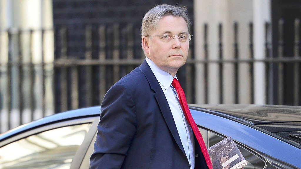 LONDON, UNITED KINGDOM - MAY 27: Sir Jeremy Heywood Cabinet Secretary seen arriving at No 10 Downing St on his way to the Queens Speech on May 27, 2015 in London, England. 