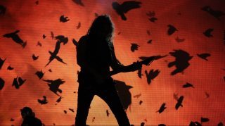 Kirk Hammett of Metallica performs on the second day of the Rock in Rio music festival in Rio de Janeiro, on September 19, 2015. AFP PHOTO/ TASSO MARCELO / AFP / TASSO MARCELO