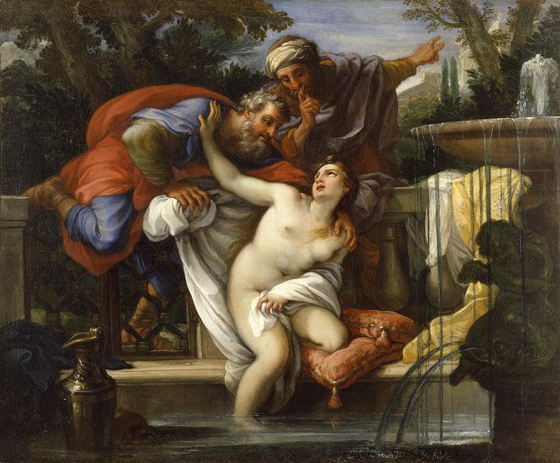 Zsuzsanna és a vének (Giuseppe Bartolomeo Chiari festménye a Wikipediáról)